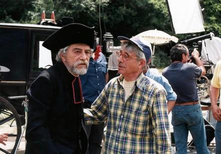 Nino Manfredi e Luigi Magni sul set