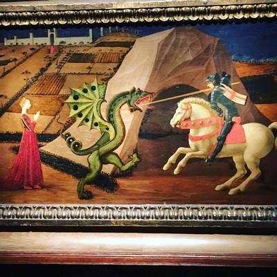 Paolo Uccello, San Giorgio e il drago, c. 1440. Parigi, Musée Jacquemart-André – Institut de France