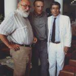 Vittorio Squillante con Dennis Hopper e Sergio Leone