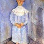 Bambina in azzurro