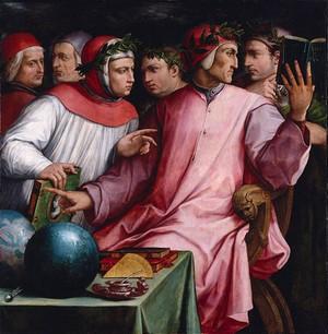 Boccaccio, Dante, Petrarca e Vasari