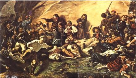 Guerra al brigantaggio. Tela del Museo di Capodimonte a Napoli