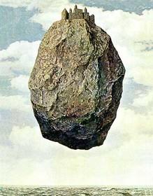 Dipinto di Magritte, in copertina di Le Città invisibili