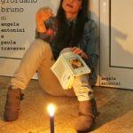 """Locandina dello spettacolo di Angela Antonini e Paola Traverso """"CANDELAIO """" di Giordano Bruno"""