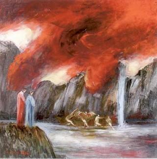 Inferno, Canto XIX, opera di Gianni Testa