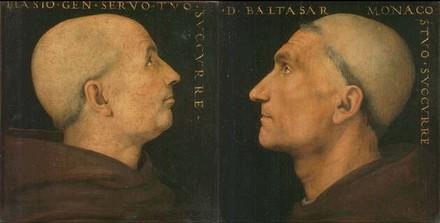 Portraits de Baldassare d'Angelo et de don Biagio Milanesi, huiles sur bois de la Galleria dell'Accademia de Florence