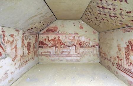 La Tombe du Navire, 470 avant J.-C., peintures transposées sur toile. Tarquinia, Museo Archeologico Nazionale Tarquiniense.