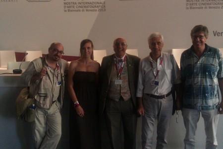 La squadra di Altritaliani a Venezia 70. Da sinistra a destra: Andrea Curcione, Chiara Lostaglio, Catello Masullo, Armando Lostaglio e Massimo Rosin.