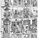 Un disegno di Saul Steinberg che pare abbia ispirato Perec