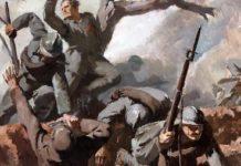Grande guerra. Dipinto di Armando Marchegiani