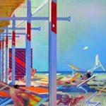 Leonardo Cremonini. Les écrans du soleil, 1967-1968, huile sur toile, 197 x 273 cm.