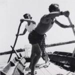P. Donzelli, Il traghetto di Forli per l'isola Camerini, 1953