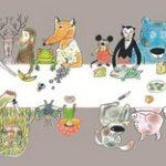 copertina dell'Illustrators Annual 2017 disegnata dalla bravissima Rotraut Susanne Berner.