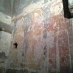 Affresco raffigurante Maria, Cristo e Sant'Elena
