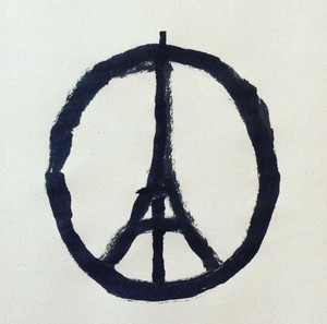 Peace for Paris (Paix pour Paris), il disegno simbolo di solidarietà concepito da Jean Jullien