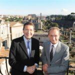 I respettivi sindaci di Roma e di Parigi: Ignazio Marino e Bertand Delanoë
