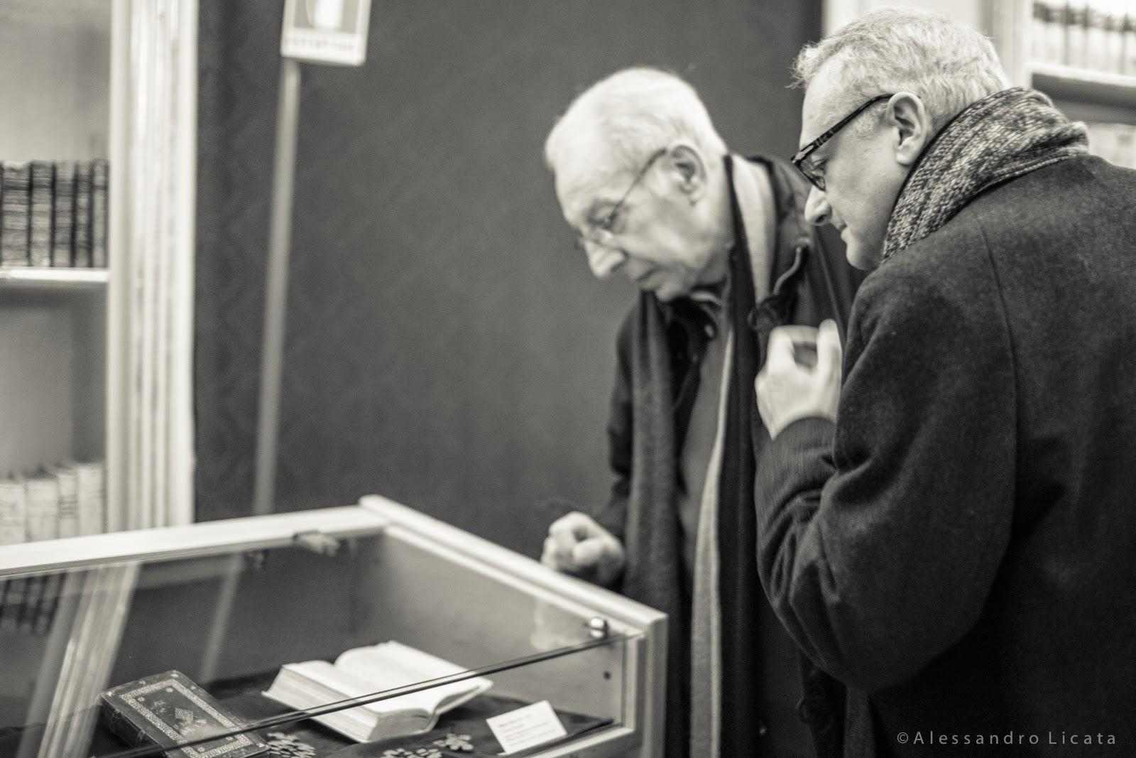 Elio Pecora con Roberto Deidier alla presentazione di Solstizio.