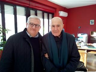 Gabriele De Masi insieme a Sami Modiano