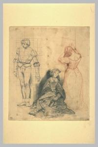 Paul Delaroche, Etude pour Jane Grey ©Musée du Louvre