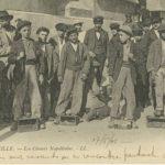 Cireurs napolitains à Marseille. Photo exposition Ciao Italia, Musée de l'Immigration Paris
