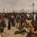 Angelo Tommasi, Gli emigranti, 1896 © Rome, Galleria Nazionale d'Arte Moderna e Contemporanea BD