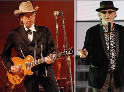 Bob Dylan e Francesco De Gregory, foto Corriere fiorentino web