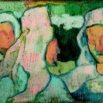 Émile Bernard, Tre teste di donne bretoni con cuffia vedovile 1888