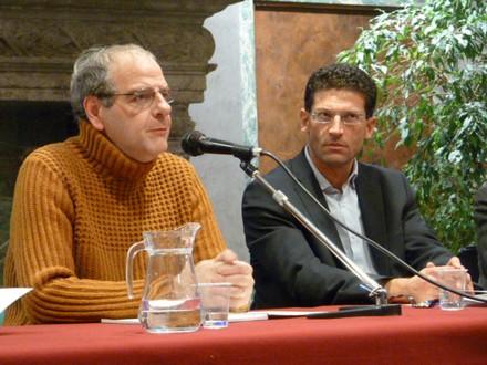 A destra: Giovanni Capecchi - A sinistra: Nicola Guarino di Altritaliani