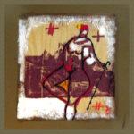 22. 1981 - Tempera su fazzoletto di carta. cm 30x30