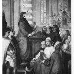 Boccaccio spiega Dante nella chiesa di S. Stefano, di Stefano Ussi