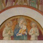 Montefalco, san Fortunato, Benozzo Gozzoli, Vergine col bambino tra san Francesco e san Bernardino e angeli.