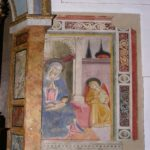 Montefalco, san Fortunato. Benozzo Gozzoli, Madonna col bambino e angelo.