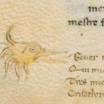 """Animaletto acquatico usato come segno di richiamo per una giunta delle """"Genealogie"""""""
