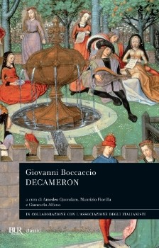 Copertina della nuova edizione del Decameron della BUR