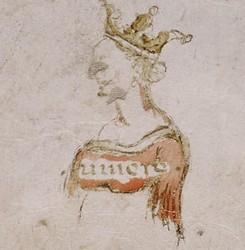 Ritratto di Alatiel lasciato da Boccaccio nell'Hamilton 90.