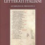 """Copertina del primo volume della serie """"Origini e Trecento"""" degli """"Autografi dei Letterati Italiani"""""""
