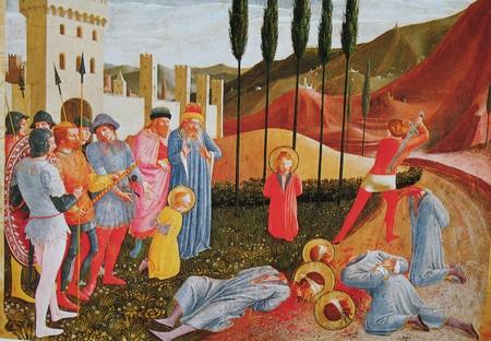 Exécution de Côme et Damien (panneau de prédelle), Fra Angelico - Le Louvre