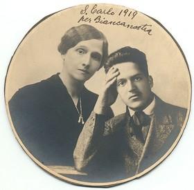 Carlo Stuparich con la madre Gisella