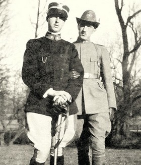 I fratelli Gadda: Enrico, morto nell'aprile 1918, e Carlo Emilio