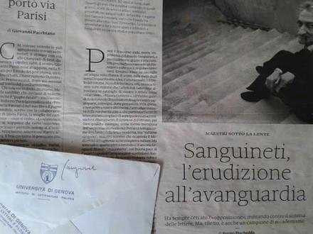 Edoardo Sanguineti e Genova