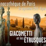 Exposition Giacometti et les Etrusques, Pinacothèque de Paris, 2011 ©Affiche : Pinacothèque de Paris, Gilles Guinamard