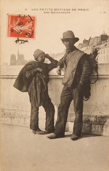 Carte postale: Les Ramoneurs, C. Malcuit, série « Les petits métiers de Paris », n° 8 © Stéphan Massis, collection Silvia Ceccomori