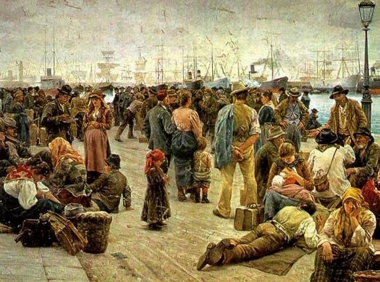 Angelo Tommasi, Gli emigranti, 1896 © Rome, Galleria Nazionale d'Arte Moderna e Contemporanea