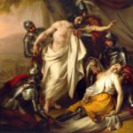 Tancredi visita la salma di Clorinda di Michelangelo Grigoletti