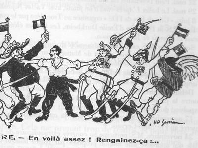 Dessin extrait du journal L'Humanité, 1912