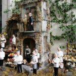 Il presepe degli chef stellati. In primo piano Ernesto Iaccarino e Ciccio Sultano