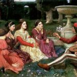 A tale from the Decameron, di John William Waterhouse (1916)