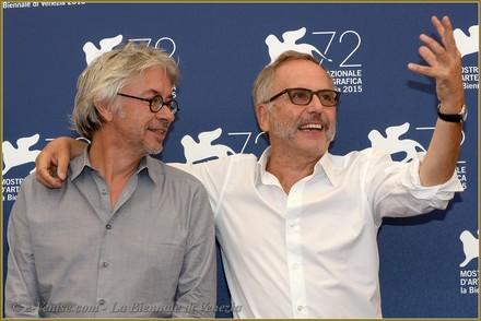 Il regista Christian Vincent, Premio per la Migliore Sceneggiatura, con Fabrice Luchini, coppa Volpi come migliore interpretazione maschile