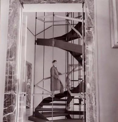 Palazzo Rosso de Gênes, L'escalier de l'architecte Albini, 1960, Archive Farabola
