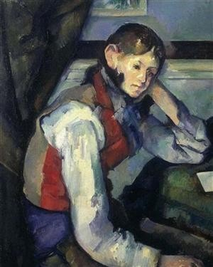 Jeune garçon au gilet rouge (1888-1889), de Cézanne, Fondation Bührle